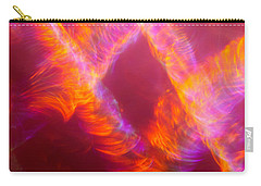 Carry-all Pouch featuring the photograph Fiery Cyclonic Fury by Greg Collins