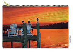 Fiery Dock Sunset Carry-all Pouch