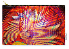 Carry-all Pouch featuring the photograph Fiery Ferris Wheel by David Lee Thompson