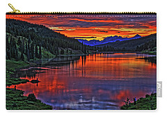 Carry-all Pouch featuring the photograph Fiery Lake by Scott Mahon