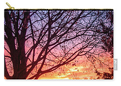 Carry-all Pouch featuring the photograph Fiery Morning Sunrise by Lars Lentz