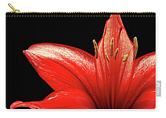 Carry-all Pouch featuring the photograph Fiery Red by Judy Vincent
