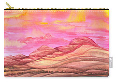 Carry-all Pouch featuring the painting Fiery Sky by Adria Trail