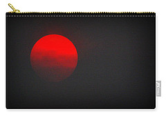 Carry-all Pouch featuring the photograph Fiery Sun by AJ Schibig