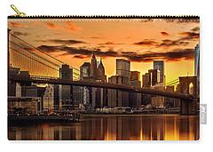 Fiery Sunset Over Manhattan  Carry-all Pouch