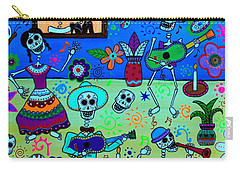 Carry-all Pouch featuring the painting Fiesta Calaveras IIi by Pristine Cartera Turkus