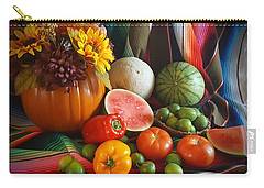 Carry-all Pouch featuring the painting Fiesta Fall Harvest by Marilyn Smith