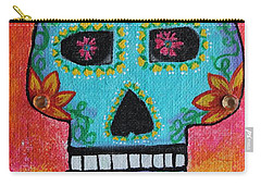 Carry-all Pouch featuring the painting Fiesta Of Colors by Amy Gallagher