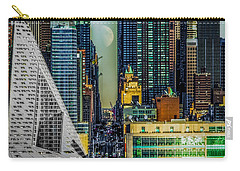 Carry-all Pouch featuring the photograph Fifty-seventh Street Fantasy by Chris Lord