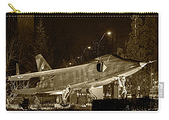 Fighter Plane By Night Carry-all Pouch by Vlad Baciu