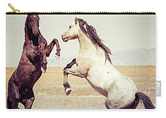 Fighting Stallions Carry-all Pouch by Mary Hone
