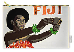 Fiji Restored Vintage Travel Poster Carry-all Pouch