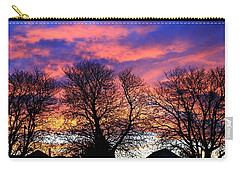 Carry-all Pouch featuring the painting Filigree Sunset by Nareeta Martin