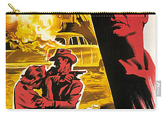 Film Noir Poster   Violent Saturday Carry-all Pouch by R Muirhead Art