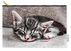 Finally Asleep  Copyright Mary Lee Parker 17  Carry-all Pouch by MaryLee Parker