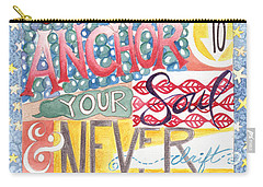 Carry-all Pouch featuring the painting Find Your Anchor by Erin Fickert-Rowland
