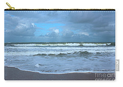 Carry-all Pouch featuring the digital art Find Your Beach by Megan Dirsa-DuBois
