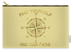 Carry-all Pouch featuring the painting Find Yourself Find Your Paths by Georgeta Blanaru