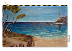 Carry-all Pouch featuring the painting Finding My Special Place In The Summertime  by Kimberlee Baxter