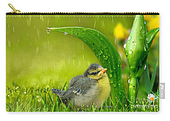 Carry-all Pouch featuring the mixed media Finding Shelter by Morag Bates