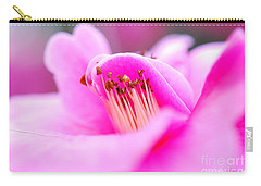Fine Art- Pink Camellia Carry-all Pouch