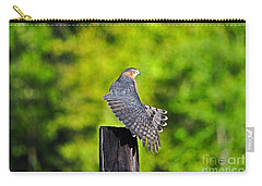 Carry-all Pouch featuring the photograph Fine Feathers by Al Powell Photography USA