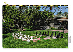 Carry-all Pouch featuring the photograph Fine Wine Cafe Chess At The Biltmore by Aimee L Maher Photography and Art Visit ALMGallerydotcom