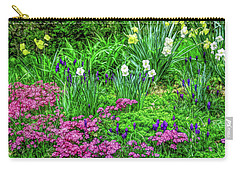Carry-all Pouch featuring the photograph Fine Wine Cafe Garden Escape by Aimee L Maher Photography and Art Visit ALMGallerydotcom