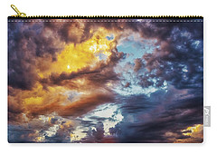 Carry-all Pouch featuring the photograph Finger Painted Sunset by Rick Furmanek