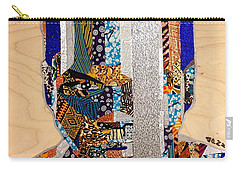 Carry-all Pouch featuring the tapestry - textile Finn Star Wars Awakens Afrofuturist  by Apanaki Temitayo M