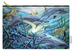 Fins And Flippers Carry-all Pouch by William Love