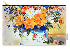 Carry-all Pouch featuring the painting Fiori Gialli Natura Morta by Roberto Gagliardi