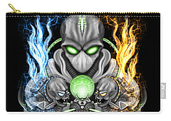 Fire And Ice Alien Time Machine Carry-all Pouch