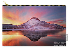 Fire And Ice - Flatiron Reservoir, Loveland Colorado Carry-all Pouch by Ronda Kimbrow