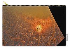 Carry-all Pouch featuring the photograph Fire And Ice by Susan Capuano