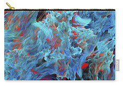 Carry-all Pouch featuring the digital art Fire And Water Abstract by Andee Design