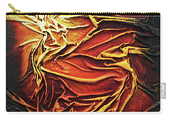 Carry-all Pouch featuring the mixed media Fire by Angela Stout