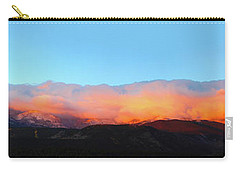 Carry-all Pouch featuring the photograph Fire Clouds - Panorama by Shane Bechler