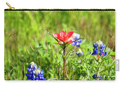 Carry-all Pouch featuring the photograph Fire Cracker by Joan Bertucci