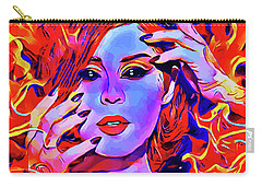 Fire Demon Woman Abstract Fantasy Dark Goth Art Carry-all Pouch