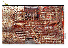 Carry-all Pouch featuring the photograph Fire Escape by Marie Leslie