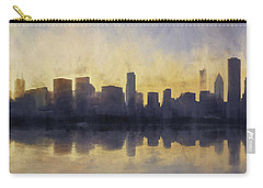 Fire In The Sky Chicago At Sunset Carry-all Pouch by Scott Norris
