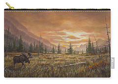Carry-all Pouch featuring the painting Fire In The Sky by Kim Lockman