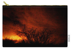 Fire In The Sky Carry-all Pouch by Nature Macabre Photography