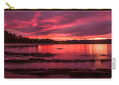 Fire In The Sky Carry-all Pouch by Racheal  Christian