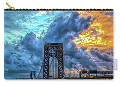 Carry-all Pouch featuring the photograph Fire In The Sky by Theodore Jones