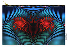 Carry-all Pouch featuring the digital art Fire Inside by Jutta Maria Pusl