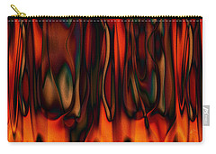 Carry-all Pouch featuring the digital art Fire by Kiki Art