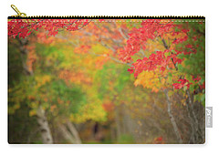 Carry-all Pouch featuring the photograph Fire Red Path  by Emmanuel Panagiotakis