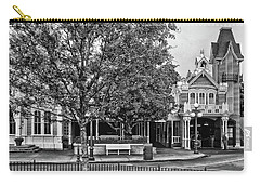 Fire Station Main Street In Black And White Walt Disney World Mp Carry-all Pouch
